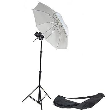 DynaSun MM2 - Kit para estudio profesional (caballete, portalámparas doble, paraguas, difusor