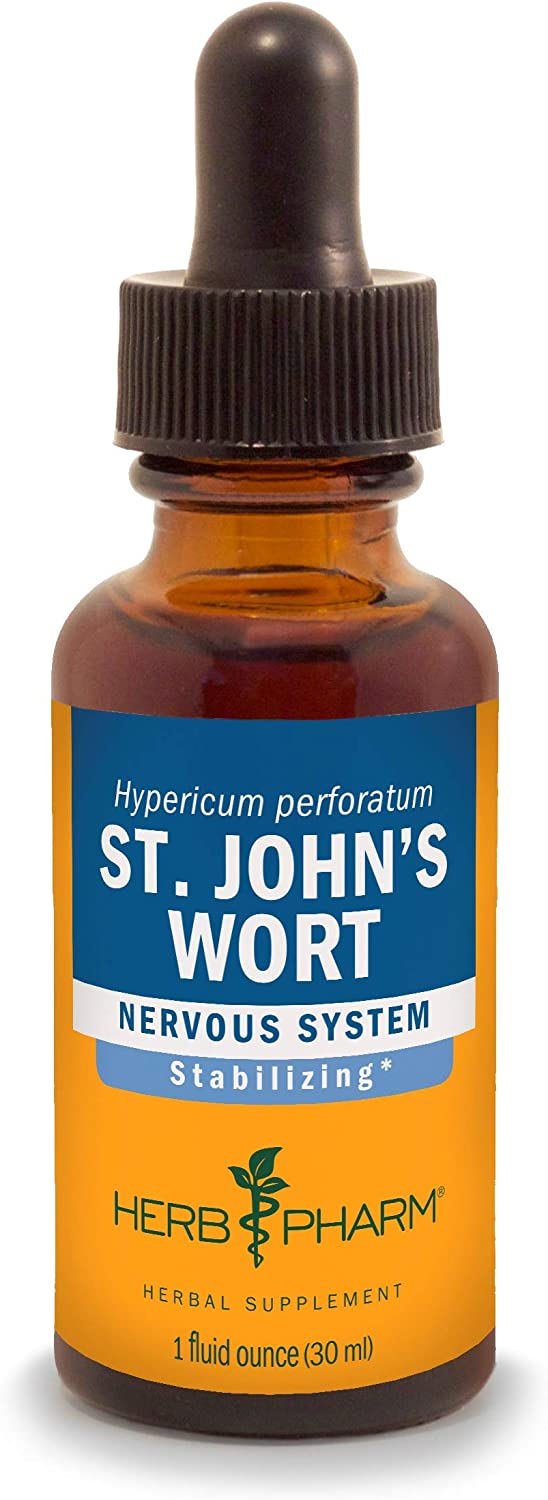Herb Pharm St. John's Wort Liquid Extract for Positive Mood and Emotional Balance, Cane Alcohol, 1 Fl Oz: Health & Personal Care