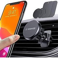 VANMASS Handyhalterung Auto Magnet Handyhalter fürs Auto Upgrade 6 Superstark Magnete Lüftung mit 4 Metallplatte & 2 Lüftungsclip Kfz Handyhalterung 360° Drehbar für alle Handys iPhone Samsung Huawei