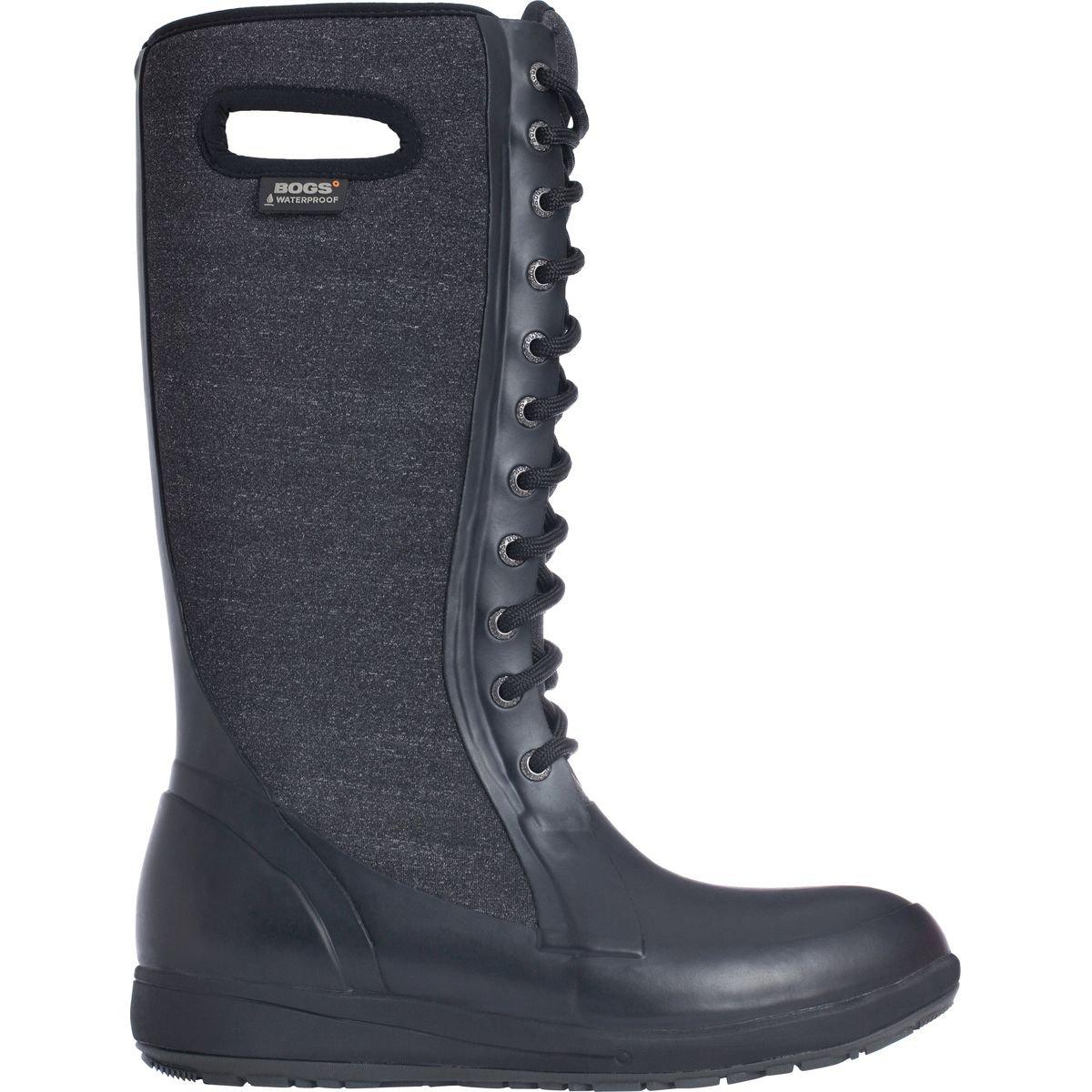 Bogs Women's Cami Lace Tall Melange Waterproof Winter Boot Blk Mlti 7 M US