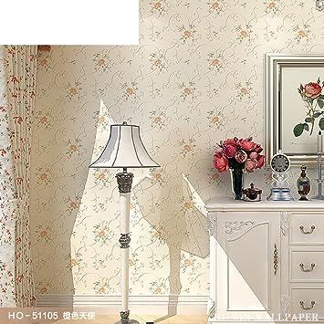 [Gold Tapete Warmes Schlafzimmer]/3DLiving Wall/Hochzeit Zimmer Romantisch  Blumentapete Goldene
