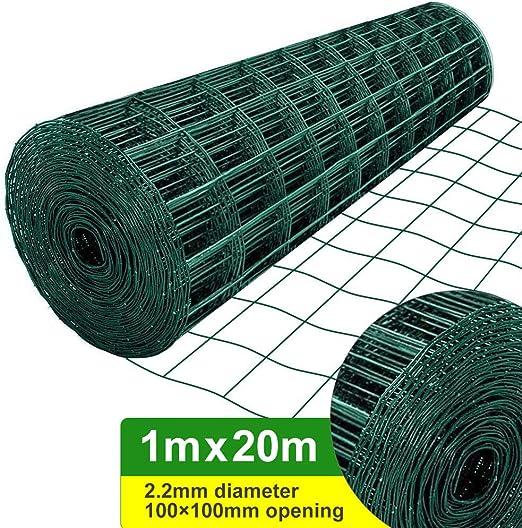 Amagabeli 1M X 20M Malla de Alambre Cuadrada Verde - RAL6005 Malla ...