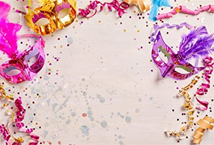 amazon com csfoto 5x3ft background for carnival mask with bokeh