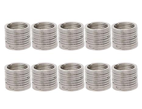 Amazon.com: Shapenty - 100 llaveros de metal negro con ...