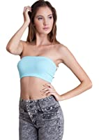 Woman Basic Mini Tube Top, Made In USA, 62 Colors Available