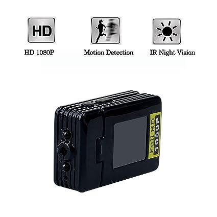 Jiusion 1080P espía cámara oculta DV, grabadora de audio portátil con cámara de camara con