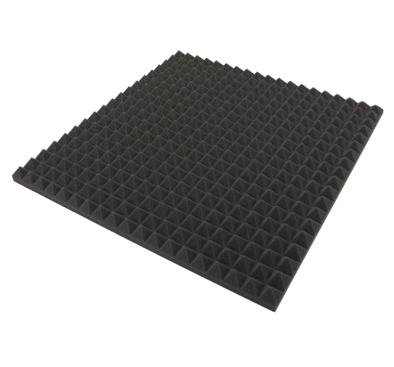 ECO Pyramiden 1 m² - 4 St. ca. 48cm x 48cm x 2, 5 cm - Akustik Schaumstoff Dämmung, Schalldämmung, Tonstudio