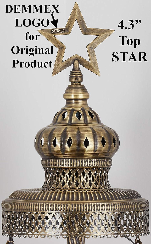 Amazon.com: Lámpara de pie de cristal de mosaico turco ...