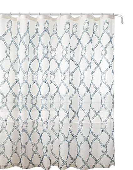 Amazon Decorative Sheer Fabric Shower Curtain Embroidered