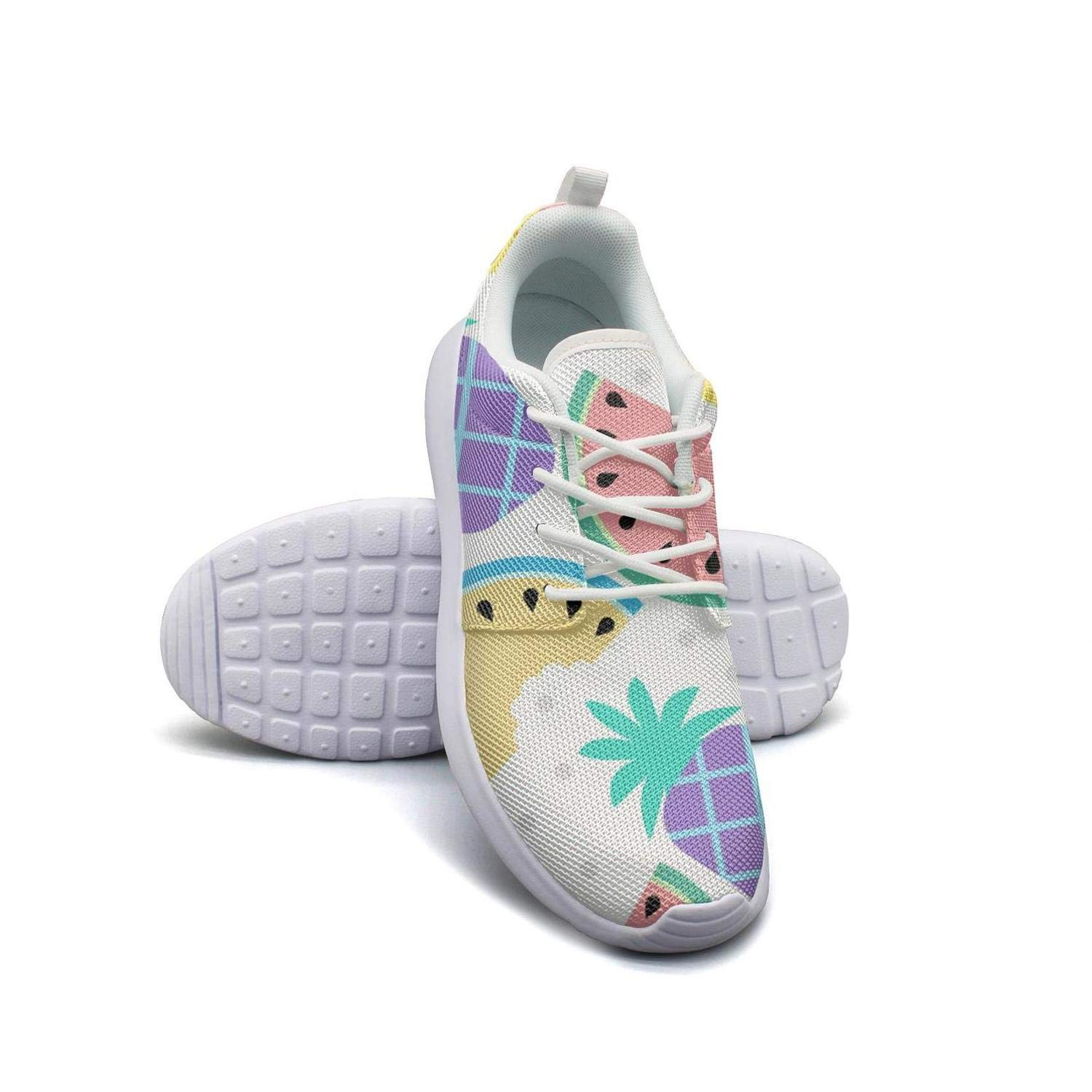 Disco Low Poly Pineapple Pattern Womens Lady Canvas Casual Shoes Cute Walking Shoes