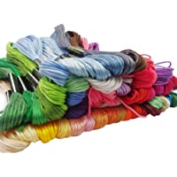 Haobase 50 Color Embroidery Thread Floss Friendship Bracelet String Skeins Cross Stitch Thread
