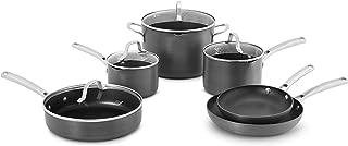product image for Calphalon Classic Pots And Pans Set, 10-Piece Nonstick Cookware Set, Grey