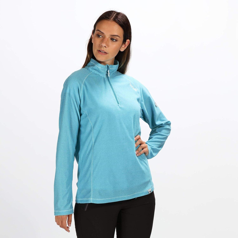 Mujer Regatta Montes Lightweight Half-Zip Mini Stripe Microfleece Forro Polar