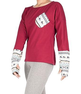 0307603b64dc5 Lofbaz Women s Long Sleeve with Thumb Holes T-Shirt at Amazon Women s  Clothing store