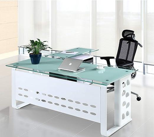 Grupo SDM Mesa Oficina Mueble a Derecha, Cristal, 180x80 cms ...