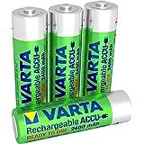 Varta Rechargeable Ready To Use Mignon NiMh Akku vorgeladen (AA, 2400 mAh, 4er Pack, wiederaufladbar ohne Memory-Effekt - sofort einsatzbereit, inklusive Aufbewahrungsbox)