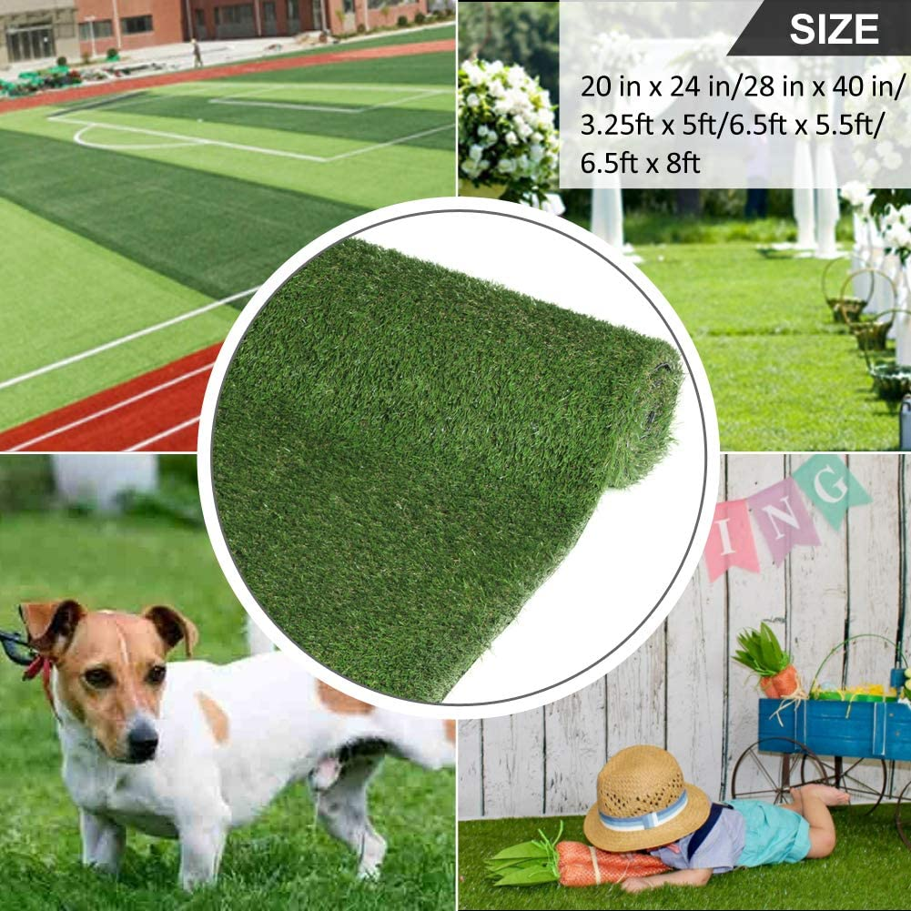 Grasslife Outdoor Rug for Dogs, Premium Green Carpet Mat Pet Dog Pads Outdoor Grass Mat Fake Turf Patio Decor 3.25ft x 5ft 4 Tone