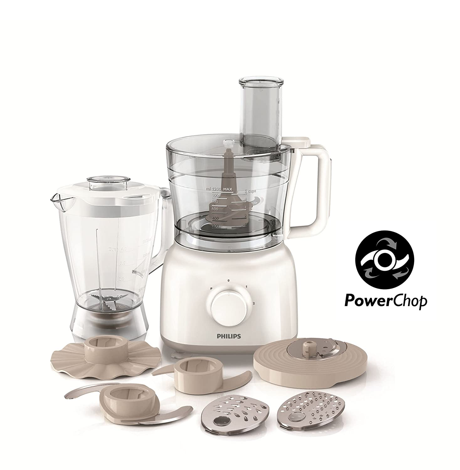 Phillips Kitchen Appliances Philips Hr7628 01 Powerchop Daily Collection Food Processor With