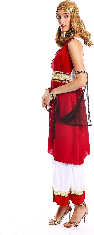 dressmeup W-0256-S//M Costume Donna Carnevale Dea Greca Sacerdotessa Roma Antichit/à Taglia S//M