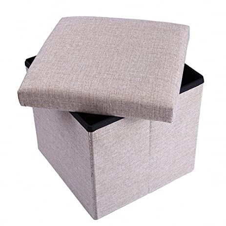 Ottoman with StorageStorage Ottoman Polyester Folding StoolCollapsible Ottoman Cube Foot Rest  sc 1 st  Amazon.com & Amazon.com: Ottoman with StorageStorage Ottoman Polyester Folding ... islam-shia.org