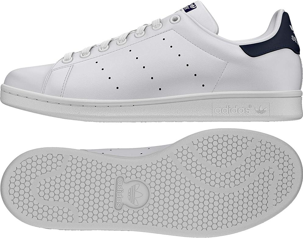 adidas Originals Stan Smith Zapatillas de Deporte Hombre, Blanco (Running White/New Navy), 39 1/3 EU: Amazon.es: Deportes y aire libre