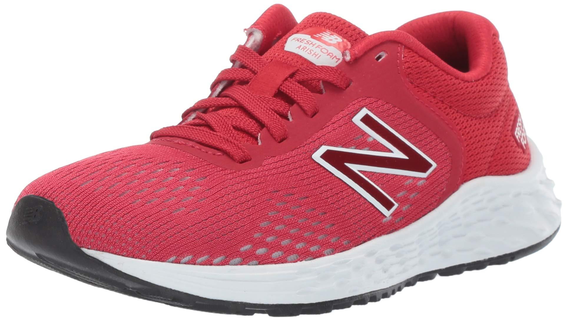 New Balance Boys' Arishi V2 Running Shoe, Team Red/White, 4.5 W US Big Kid