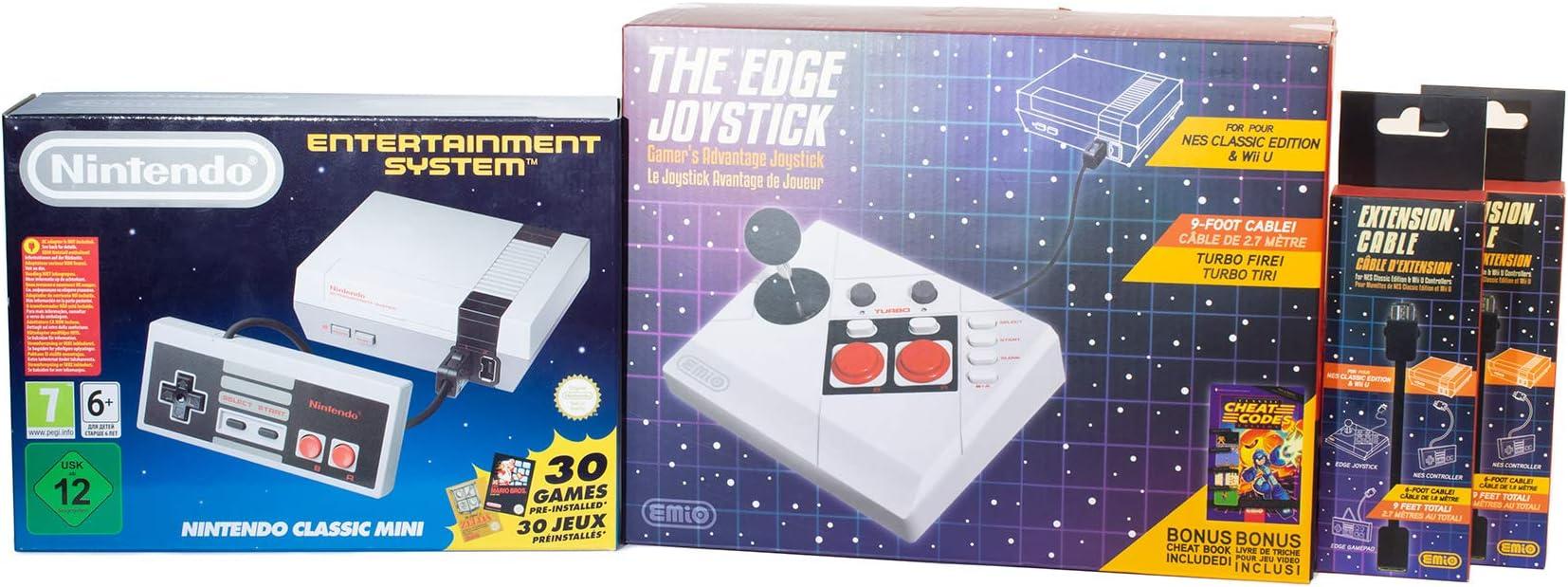 Amazon com: NES Classic Edition With Bonus Joystick + 2 Free