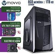 COMPUTADOR GAMER MVXP PENTIUM G5400 3.7GHZ 8ª GER. MEM. 8GB HD 1TB HDMI GTX 750TI 2GB DDR5 128BITS FONTE 400W - MOVVA