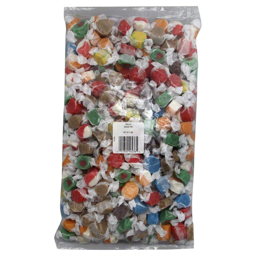 Brach's Salt Water Taffy Candy, 7 Pound Bulk Candy Bag by Brach's