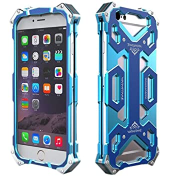 iPhone 6S Funda, iPhone 6S Carcasa de Metal, Richera Full-Body Estructuras de aluminio iPhone 6, iPhone 6S aleación de aluminio carcasa de doble capa ...