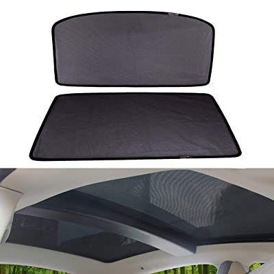 OMOTOR Sunshade Sunroof fit for Tesla Model S 2012-2020 Version (2 Pieces): Automotive