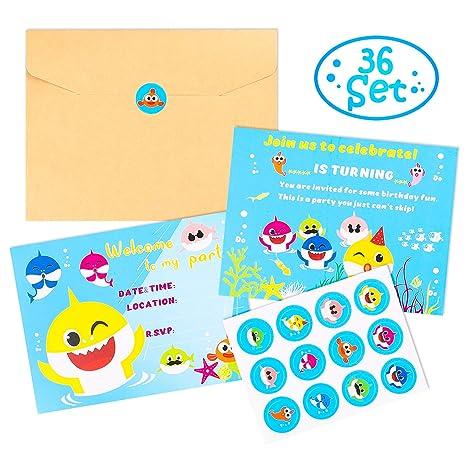 Amazon.com: MALLMALL6 Juego de 36 tarjetas de invitación de ...