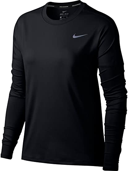 Nike Dry Element Sudadera con Capucha, Mujer, Black//Reflective Silver, XS