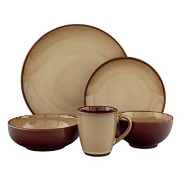 ceramic dinnerware sets uk stoneware nova brown set piece blue