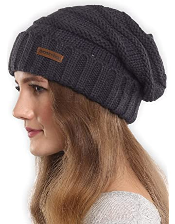 Brook + Bay Slouchy Cable Knit Cuff Beanie - Stay Warm   Stylish - Chunky 7e2ca85744b