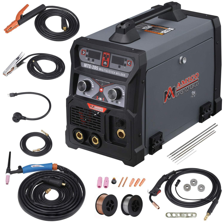 MTS-205 205 Amp MIG/TIG-Torch/Stick Arc Combo Welder, Weld Aluminum(MIG) on