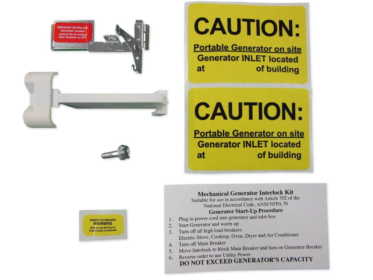CH100UL Cutler Hammer Generator Interlock Kit CH SERIES ONLY 100 amp Main breaker