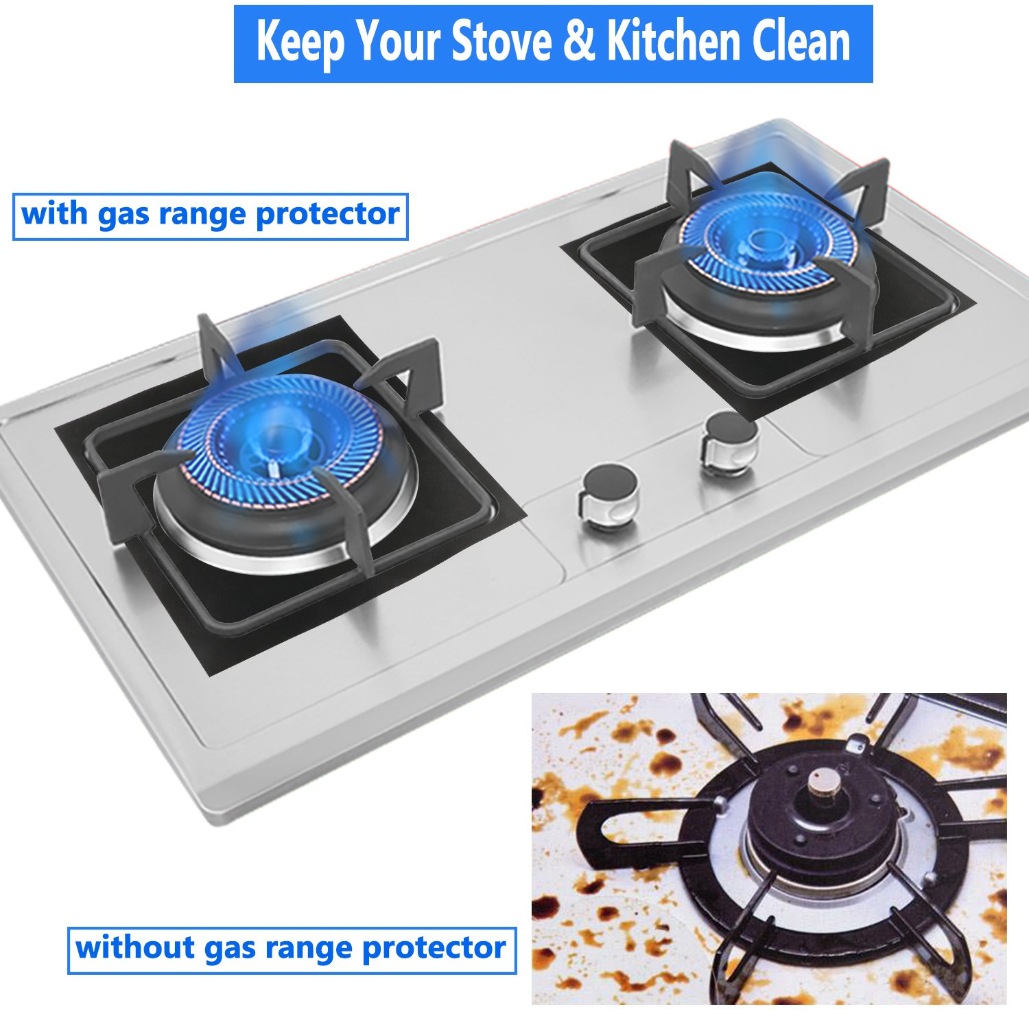 amazon com philonext 8 pack gas range protector stove burner