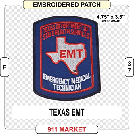 TEXAS DEPARTMENT OF HEALTH PARAMEDIC Emergency First Responder Uniform Patch