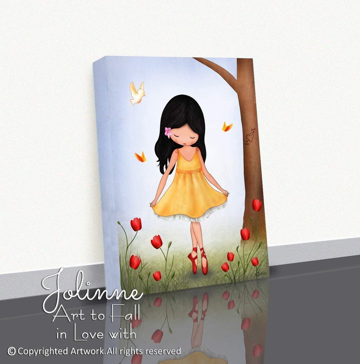 Amazon com ballerina canvas wall art for little girls rooms artwork