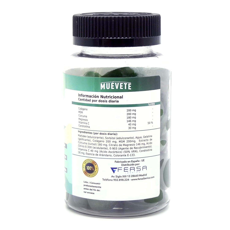 Potente Antiinflamatorio con Acción Analgésica - Reduce y elimina dolores - Regenerador Articular - Potente Cúrcuma + Colágeno + Magnesio + Condroitina + ...