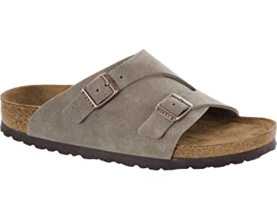 17437213fa2 Birkenstock Zürich Suede Leather Soft-Footbed Narrow Taupe Size EU 37 - US  L6 M4