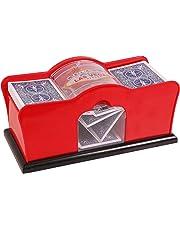 Kangaroo Card Shuffler (2-Deck) for Blackjack, Poker; Quiet, Easy to Use; Manual, Hand Cranked
