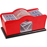 Kangaroo Card Shuffler (2-Deck) for Blackjack, Poker; Quiet, Easy to Use; Manual, Hand Cranked