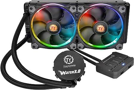 Thermaltake Water 3.0 Riing RGB 240 - Sistema de refrigeración líquida, Color Negro: Amazon.es: Informática