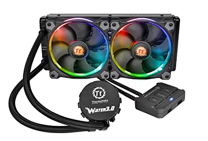 Thermaltake Water 3 0 Dual Riing RGB High Static Pressure Fans 240 AIO  Water Cooling System CPU Cooler CL-W107-PL12SW-A