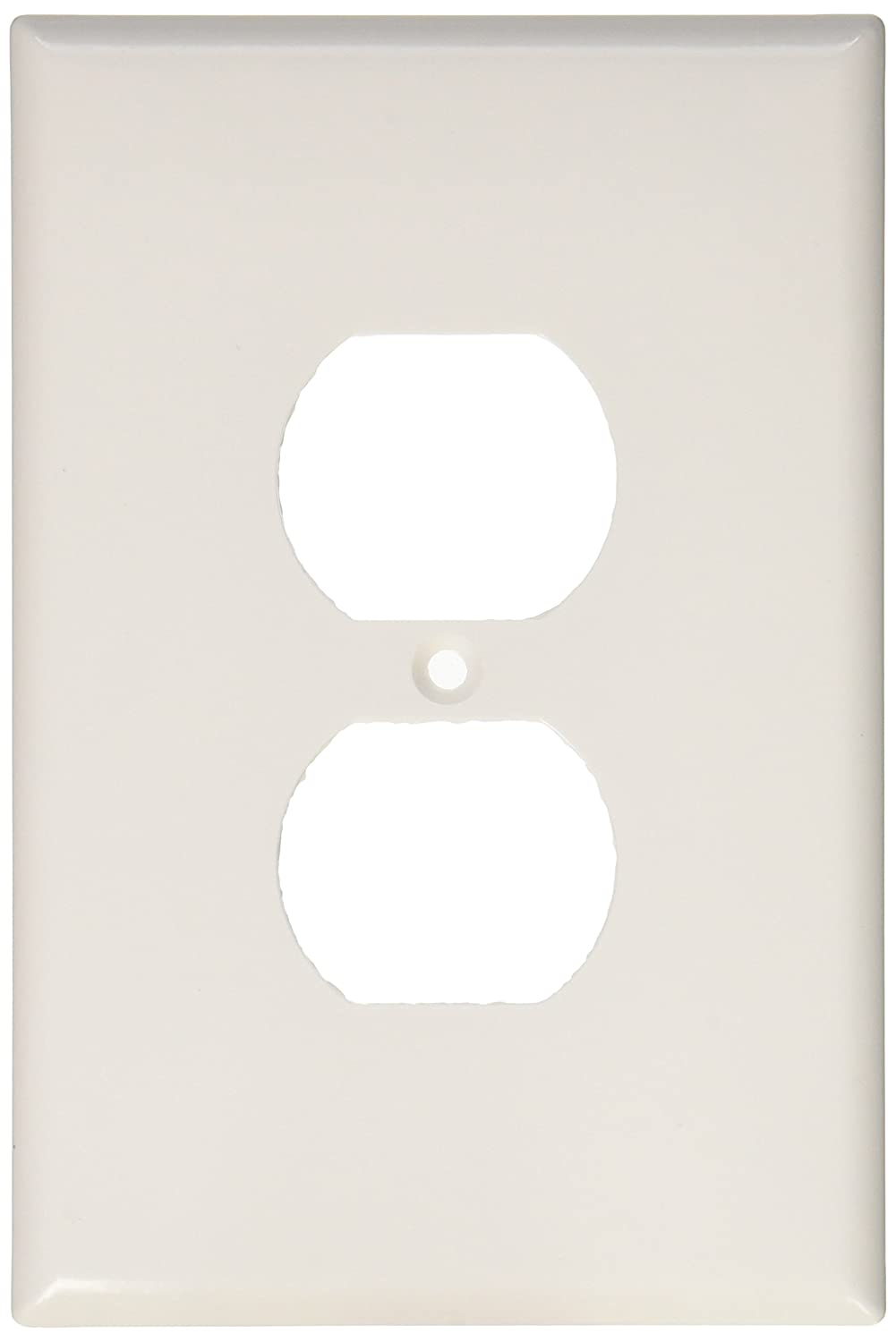 EATON Wiring 2142W-SP-L Thermoset 1-Gang Oversize Duplex Receptacle Wallplate, White 2142W-BOX