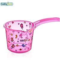 Baby Jem Bebek Banyo Maşrapası Şeffaf Desenli, Pembe