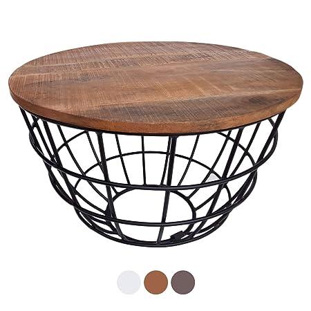 Mesa de café Mesa de la Sala Mesa Redonda Lexington ø 60 cm, Marco ...