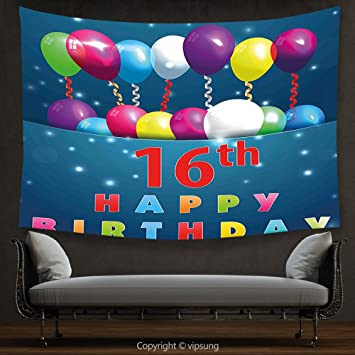 Amazon De Vipsung House Decor Gobelin 16 Geburtstag Dekorationen